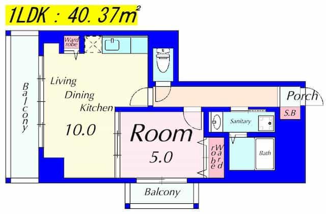 エンゼルプラザwest1の間取り図のサムネイル