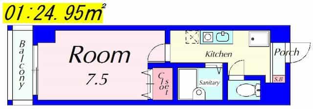 エスポワールの間取り図のサムネイル