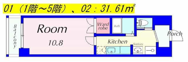 アートプラザミーの間取り図のサムネイル