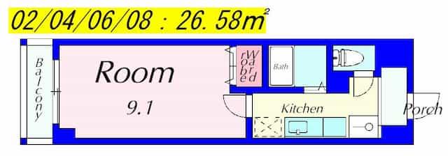 アートプラザ光の間取り図のサムネイル