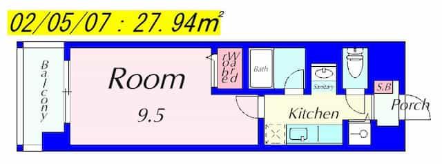 メゾンクレールⅢの間取り図のサムネイル