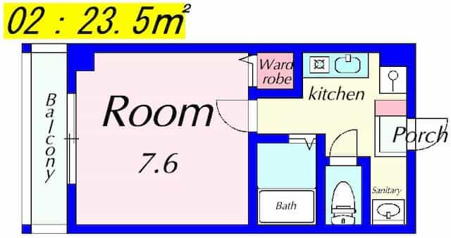 精美寤館(しょうびかん)の間取り図のサムネイル