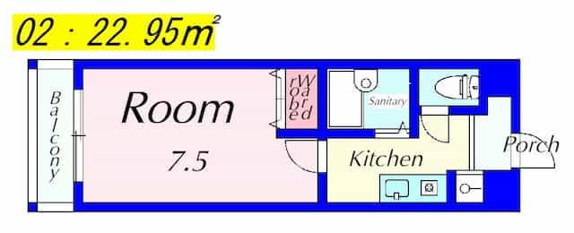 メゾンエスプリの間取り図のサムネイル