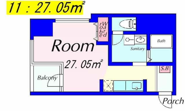 エルミナeeビルディングの間取り図のサムネイル
