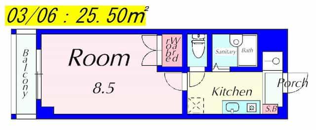 メゾンクレールの間取り図のサムネイル