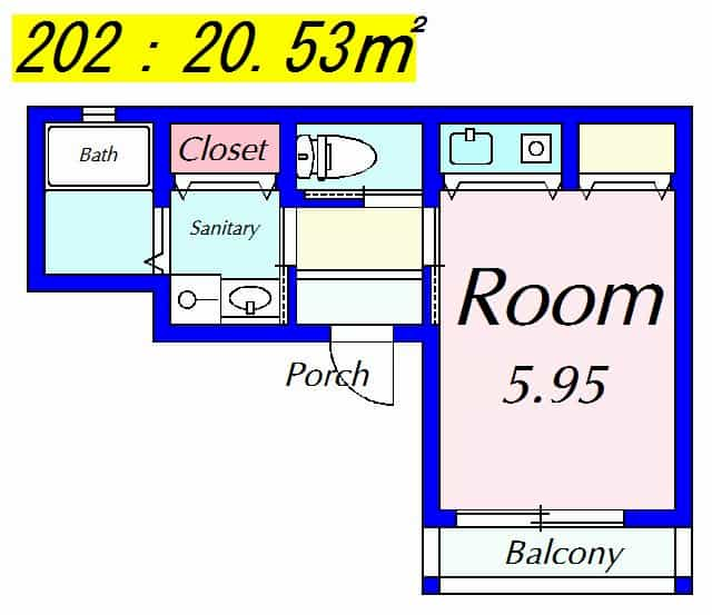Cozy Court8の間取り図のサムネイル