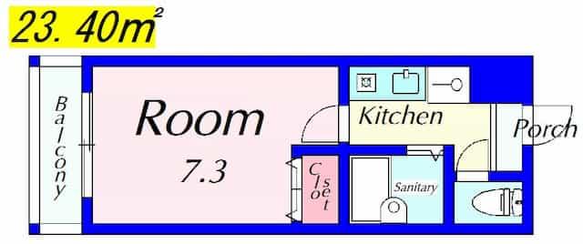 マリーベルハイツC,D棟の間取り図のサムネイル