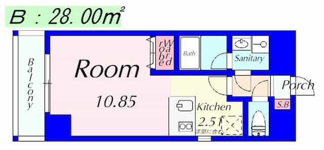 エンゼルプラザイースト1の間取り図のサムネイル