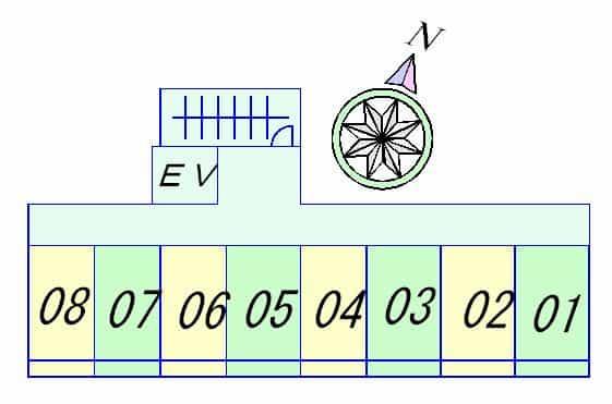 プリオールZEN 弐番館の間取り図のサムネイル