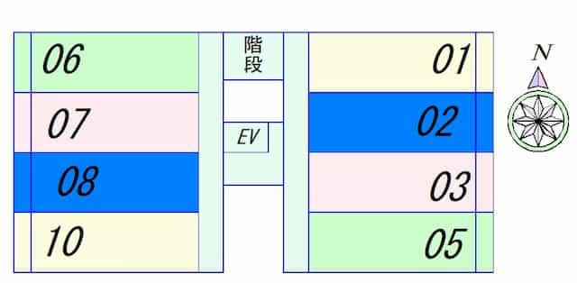 PALACIO K2(パラシオK2)の間取り図のサムネイル