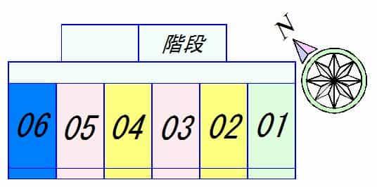 太陽ハイツ南草津Ⅲの間取り図のサムネイル