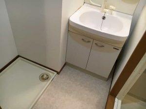 コープ美山2の洗面台