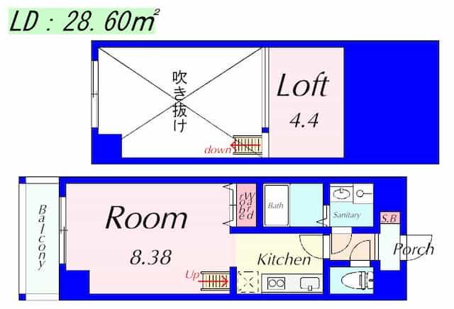 エンゼルプラザイースト2の間取り図のサムネイル