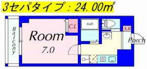 ピュアドミトリーシミズの3点セパレートの図面