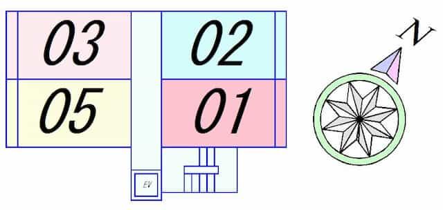 エランビタールⅢの間取り図のサムネイル