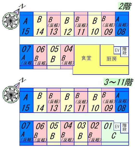 STキューブ(食事付マンション)の間取り図のサムネイル