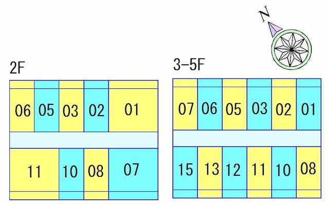 クローバーハイツ2の間取り図のサムネイル