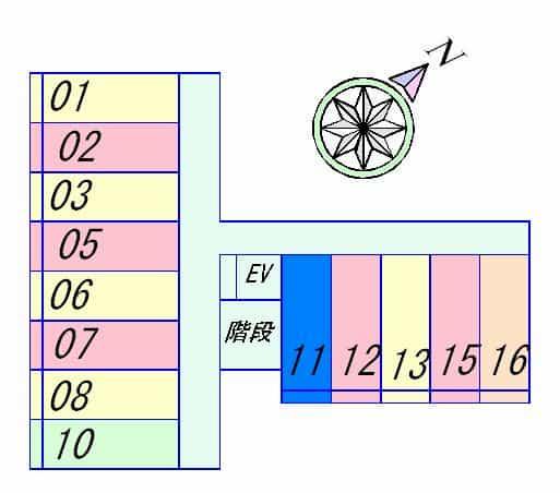 ラクーンD3の間取り図のサムネイル