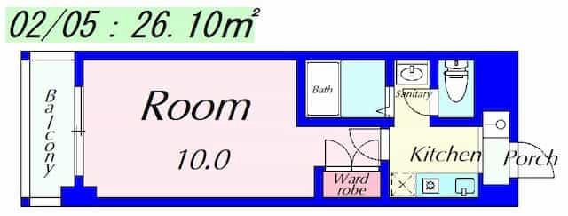 ラクーンD2の間取り図のサムネイル