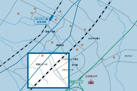 笠山エリアの地図