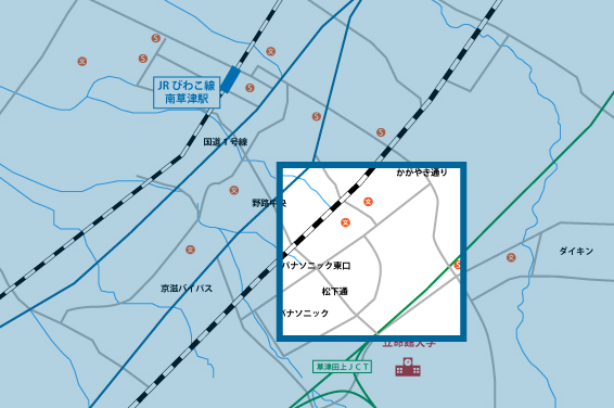 野路東エリアの地図