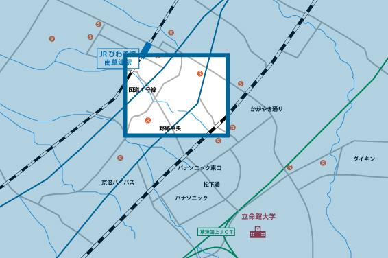 野路エリアの地図