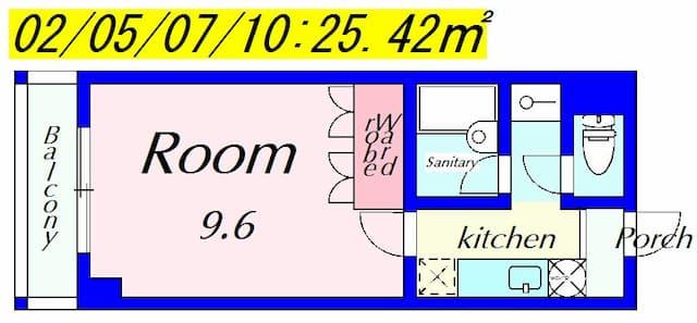 ラクーンD1の間取り図のサムネイル