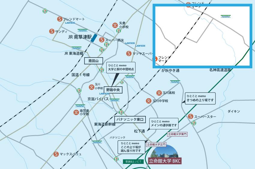 追分・青地エリアの地図